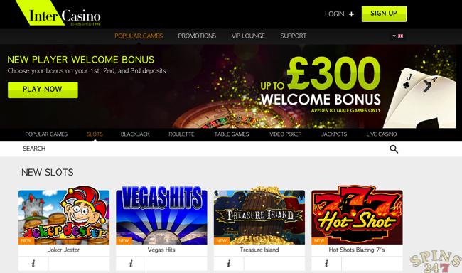 Inter casino welcome bonus fernadino fl gambling