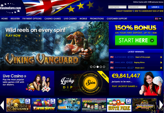 Casino euro online top aussie millions crown casino 2009